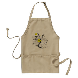 Water-lilies engraving standard apron