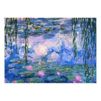 Water Lilies Large Business Card