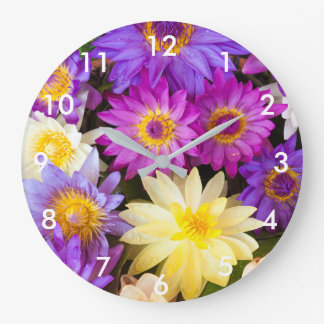 water lilies large clock