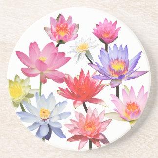 Water Lilies & Lotus Beverage Coaster