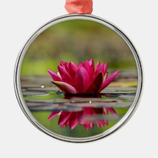 Water Lilies Metal Ornament