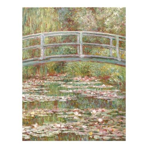 Water Lilies ~ Monet Letterhead Design