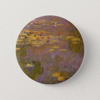Water Lilies Nympheas 2 Inch Round Button
