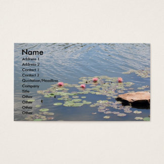 Water Lilies on Water Business Card