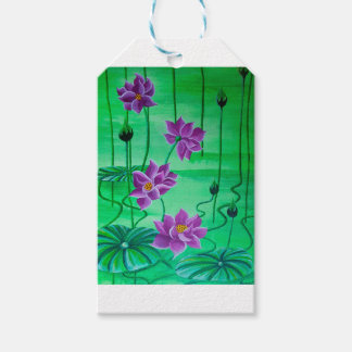 WATER LILIES PACK OF GIFT TAGS