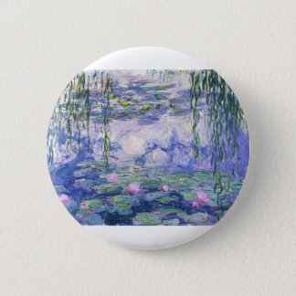 Water Lilies Painting 2 Inch Round Button