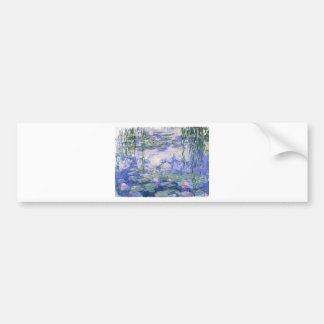 Water Lilies Painting Bumper Sticker
