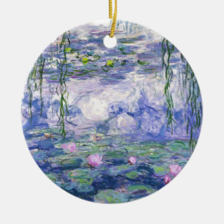 Water Lilies Painting Ceramic Ornament