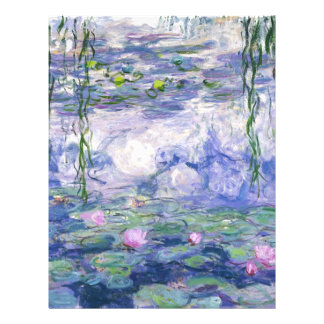 Water Lilies Painting Letterhead