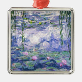 Water Lilies Painting Metal Ornament