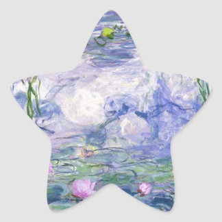 Water Lilies Painting Star Sticker