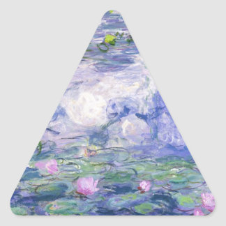 Water Lilies Painting Triangle Sticker