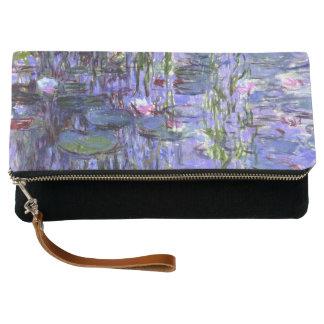 Water Lilies Purple Reflections Monet Fine Art Clutch