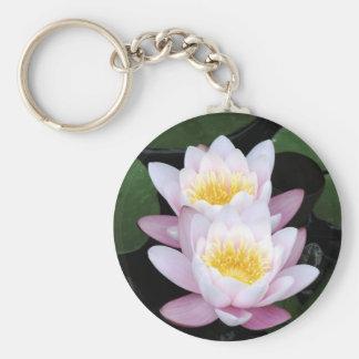 Water Lilies Round Keychain