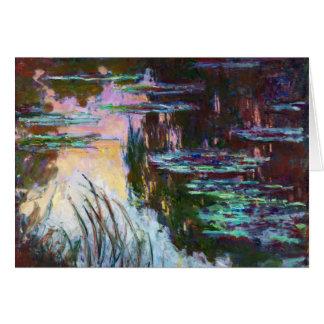 Water Lilies, Setting Sun Claude Monet Card