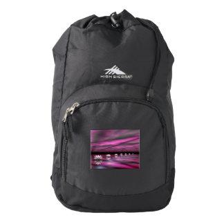 Water lilies steps the horizon - 3D render Backpack