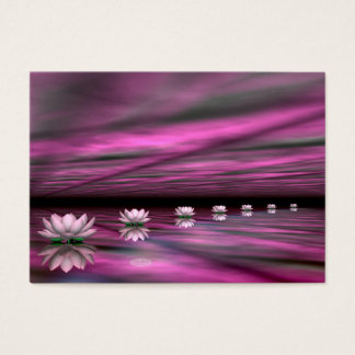 Water lilies steps the horizon - 3D render Business Card