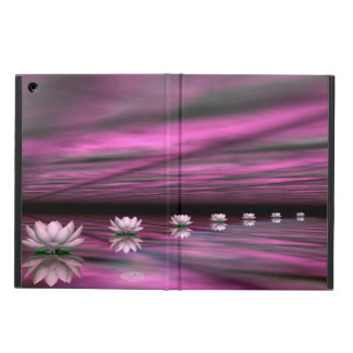 Water lilies steps the horizon - 3D render Cover For iPad Air