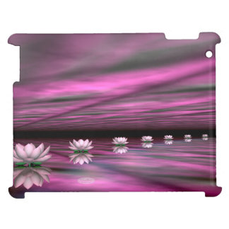 Water lilies steps the horizon - 3D render Cover For The iPad