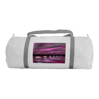 Water lilies steps the horizon - 3D render Gym Bag
