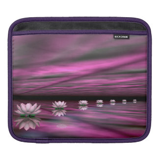 Water lilies steps the horizon - 3D render iPad Sleeve