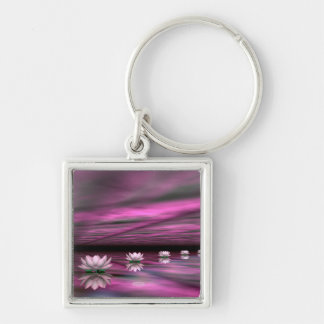 Water lilies steps the horizon - 3D render Keychain