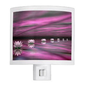 Water lilies steps the horizon - 3D render Nite Light