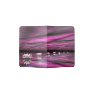 Water lilies steps the horizon - 3D render Passport Holder