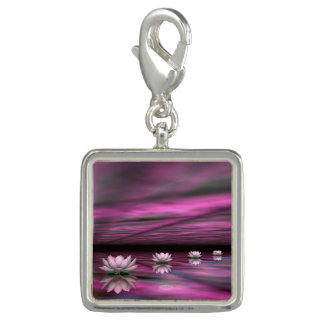 Water lilies steps the horizon - 3D render Photo Charms