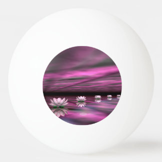 Water lilies steps the horizon - 3D render Ping Pong Ball