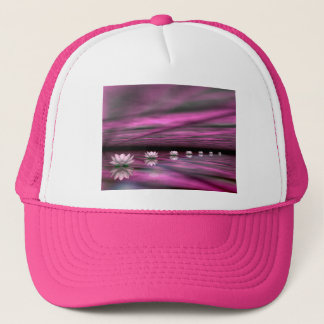 Water lilies steps the horizon - 3D render Trucker Hat