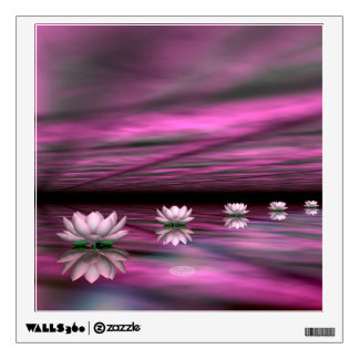 Water lilies steps the horizon - 3D render Wall Decal
