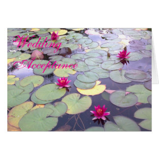 Water Lilies Wedding Acceptance Card