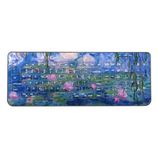 Water Lilies Wireless Keyboard