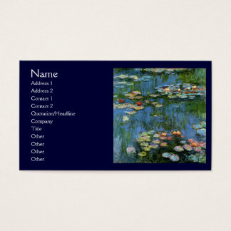 Water Lillies by Monet Business Card