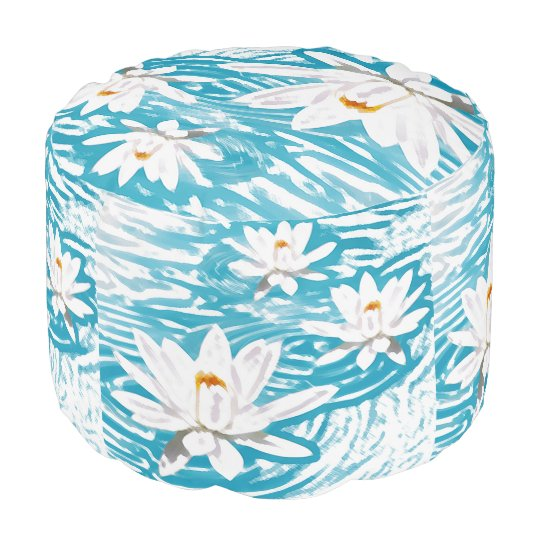 Water Lillies Pouf