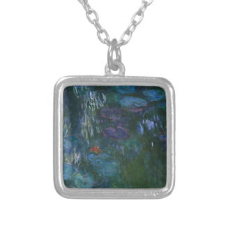Water Lillies Silver Plated Necklace