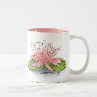 Water Lilly Two-Tone Coffee Mug