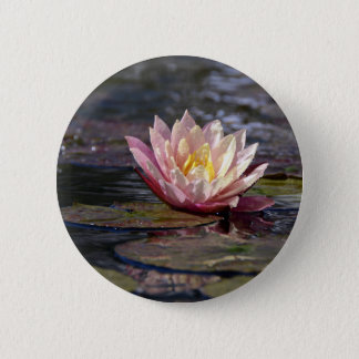 Water Lily 2 Inch Round Button