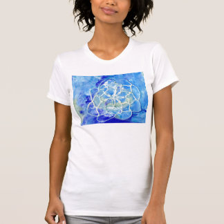 Water Lily Absract on Plain White T T-Shirt