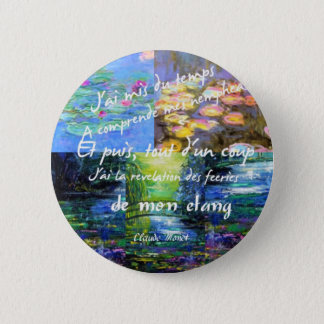 Water lily and Monet fascination. 2 Inch Round Button