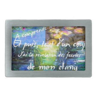 Water lily and Monet fascination. Belt Buckle