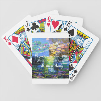 Water lily and Monet fascination. Bicycle Playing Cards