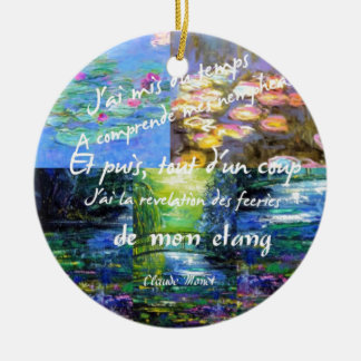 Water lily and Monet fascination. Ceramic Ornament
