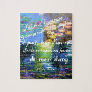 Water lily and Monet fascination. Jigsaw Puzzle