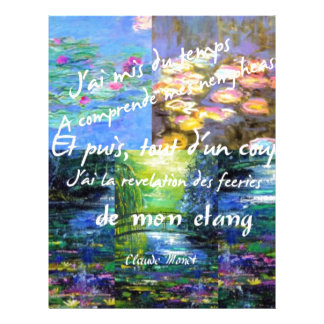 Water lily and Monet fascination. Letterhead