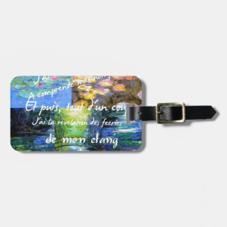Water lily and Monet fascination. Luggage Tag