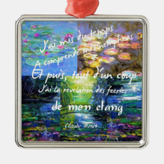 Water lily and Monet fascination. Metal Ornament