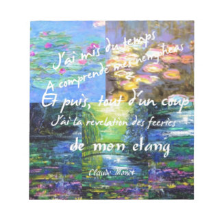 Water lily and Monet fascination. Notepad