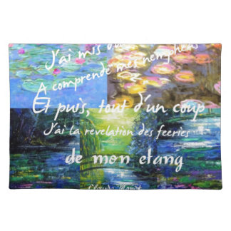 Water lily and Monet fascination. Placemat